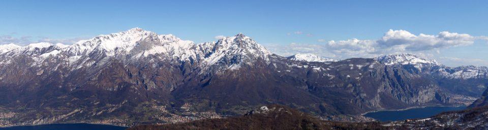 Panorama sulle Grigne dal Monte San Primo