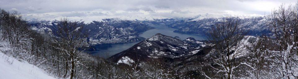 Panorama sul Triangolo Lariano dal Monte San Primo