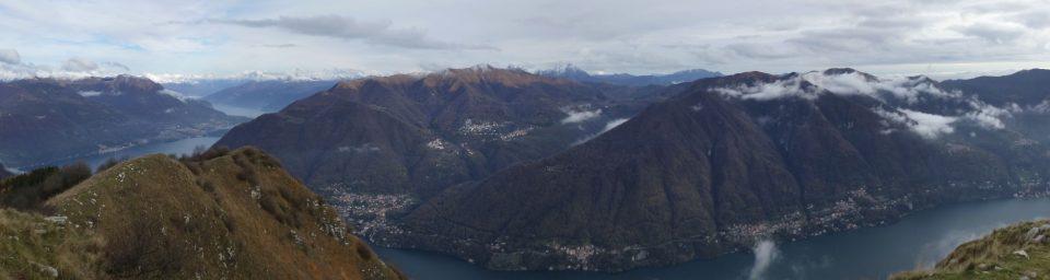 Valle del Nose vista dall'altra ponda del Lario